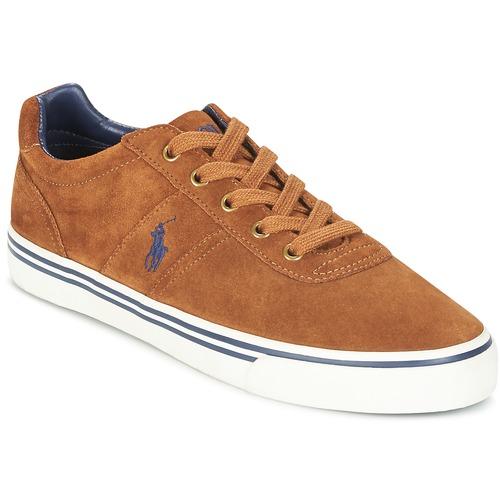 Shoes Men Low top trainers Polo Ralph Lauren HANFORD Cognac