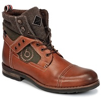 Shoes Men Mid boots Bugatti MATINE COGNAC / Green