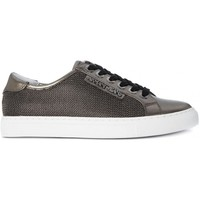 Shoes Women Low top trainers Armani  Jeans ARMANI JEANS  SNEAKER  GUN METAL    121,5