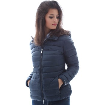 Clothing Women coats Geox W6225A T1816 Down jacket Women Blue Blue