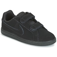 Shoes Boy Low top trainers Nike COURT ROYALE PRE-SCHOOL Black