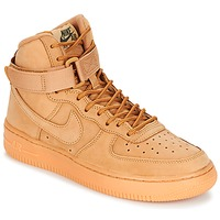 Shoes Children Hi top trainers Nike AIR FORCE 1 HIGH WB GRADE SCHOOL Honey