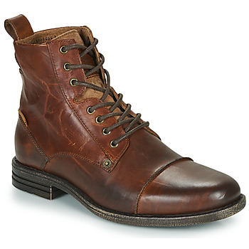 Men's Vintage Workwear Inspired Clothing Levis  EMERSON  mens Mid Boots in Brown £119.70 AT vintagedancer.com