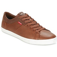 Shoes Men Low top trainers Levi's WOODS Brown