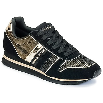 Shoes Women Low top trainers Versace Jeans LETRE Black / Gold