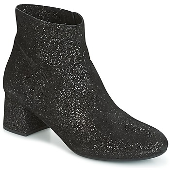 Shoes Women Ankle boots Unisa KARISI Black / Silver