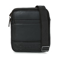 Bags Men Pouches / Clutches Calvin Klein Jeans BENNET MINI FLAT CROSSOVER Black
