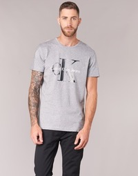 Clothing Men short-sleeved t-shirts Calvin Klein Jeans TEE RE-ISSUE CN REGULAR FIT TEE SS Grey