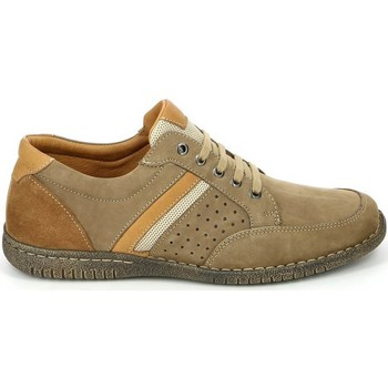 Shoes Men Walking shoes Grunland SC3378 Classic shoes Man Beige Beige