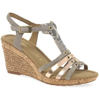 Shoes Women Sandals Gabor Iris Womens Wedge Heel Sandals BEIGE