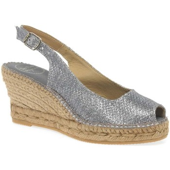 Shoes Women Espadrilles Toni Pons Calafell Womens Wedge Heel Espadrilles Silver