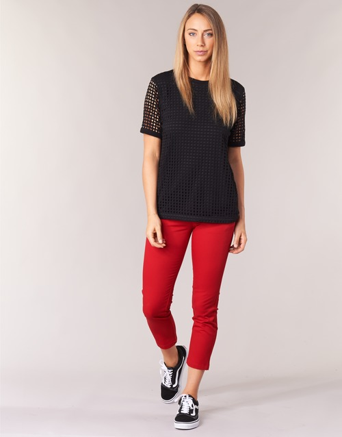 Clothing Women chinos Volcom GMJ FROCHICKIE PANT Red
