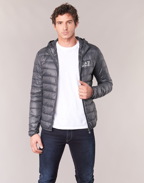 8533391461f6 Clothing Men Duffel coats Emporio Armani EA7 TRAIN CORE ID DOWN LIGHT HD  Grey