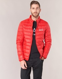 Clothing Men Duffel coats Emporio Armani EA7 TRAIN CORE ID DOWN LIGHT JKT Red