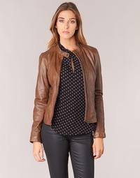 Clothing Women Leather jackets / Imitation leather Oakwood 62578 Camel