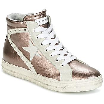 Shoes Women Hi top trainers Meline POLARE BRONZE