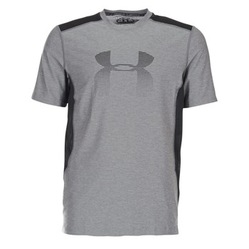 Clothing Men short-sleeved t-shirts Under Armour UA RAID GRAPHIC SS Grey / Black