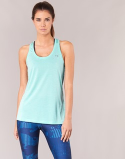 Clothing Women Tops / Sleeveless T-shirts Under Armour TECH TANK - SOLID Green