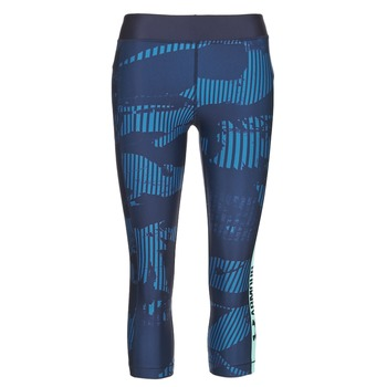 Clothing Women leggings Under Armour UA HG ARMOUR GRAPHIC CAPRI Blue