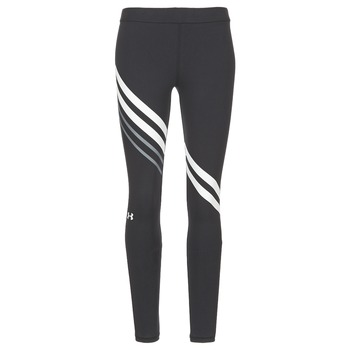 Clothing Women leggings Under Armour FAVORITE LEGGING ENGINEERED Black / White