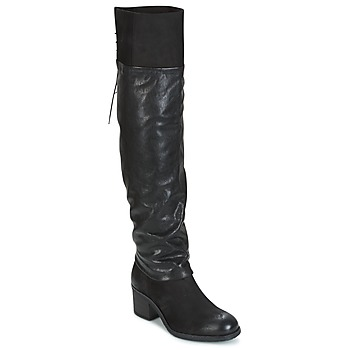Shoes Women Thigh boots Mjus SHAGGY Black