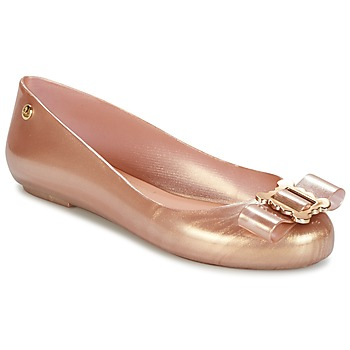 Shoes Women Flat shoes Melissa VW SPACE LOVE 18 ROSE GOLD BUCKLE Pink / Gold