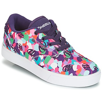 Shoes Girl Wheeled shoes Heelys LAUNCH Purple / Multicolour