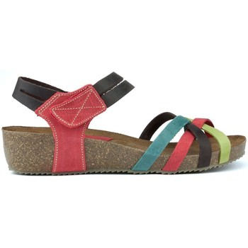 Shoes Women Sandals Interbios HAPPY COLOURS MULTICOLOR