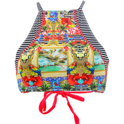 Clothing Women Bikini Separates Phax High Neck Swimsuit  Havana Feel Multicolor MULTICOLOUR