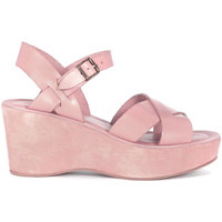 Shoes Women Clogs Kork Ease modello Ava pale pink leather wedge sandal Pink