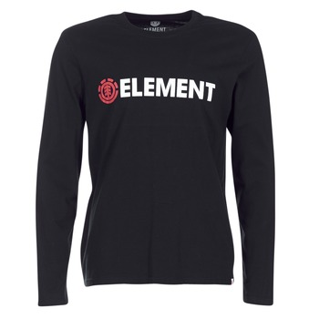 Clothing Men Long sleeved tee-shirts Element BLAZIN LS Black