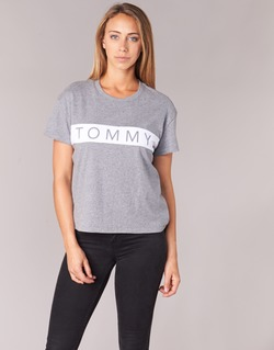 Clothing Women short-sleeved t-shirts Tommy Jeans THDW CN T-SHIRT S/S 26 Grey / White