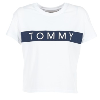 Clothing Women short-sleeved t-shirts Tommy Jeans THDW CN T-SHIRT S/S 26 White / Marine