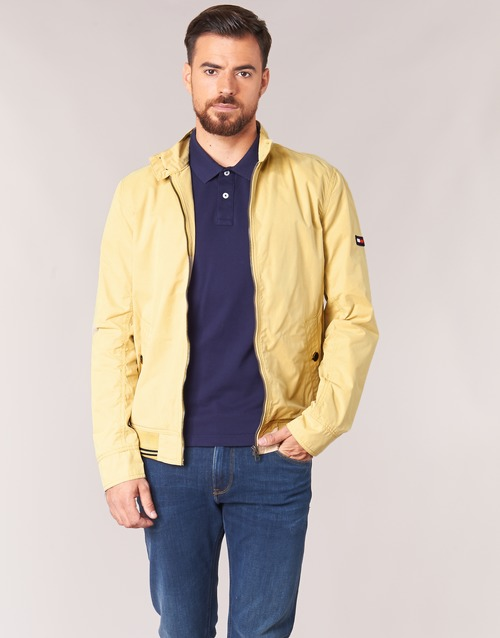 Clothing Men Jackets Tommy Jeans THDM BASIC HARRINGTON Beige