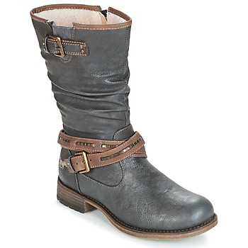 Shoes Women High boots Mustang ISALBA Grey