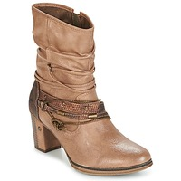 Shoes Women Ankle boots Mustang BUNDEN Beige