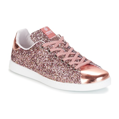 Victoria DEPORTIVO BASKET GLITTER Pink - Free delivery with Spartoo ... 1dcf0472adb