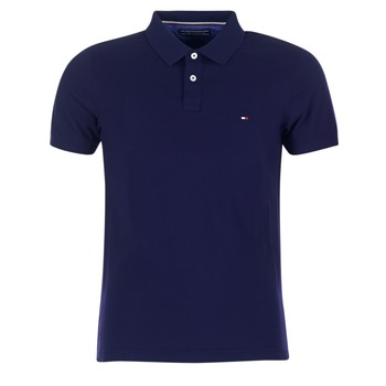 Clothing Men short-sleeved polo shirts Tommy Hilfiger LUXURY SLIM FIT TIPPED MARINE