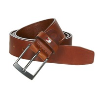 Clothes accessories Men Belts Tommy Hilfiger TH LEATHER BELT 3.5 Brown