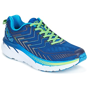Shoes Men Running shoes Hoka one one CLIFTON 4 Blue / Green