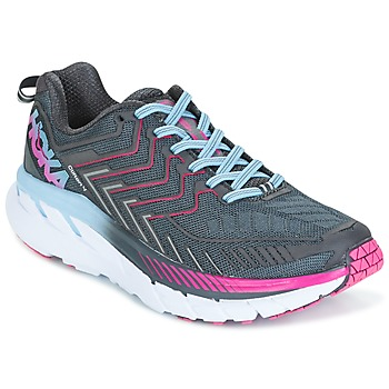 Shoes Women Running shoes Hoka one one CLIFTON 4 Grey