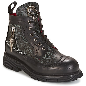 Shoes Mid boots New Rock MORTY Black