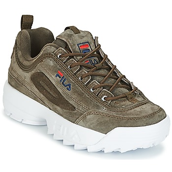 Shoes Women Hi top trainers Fila DISRUPTOR S LOW WMN OLIVE