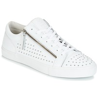 Shoes Men Low top trainers Jim Rickey ZED STUDS White / Silver