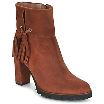 Shoes Women Ankle boots Wonders CHANIEL Brown