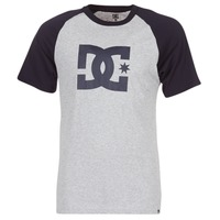Clothing Men short-sleeved t-shirts DC Shoes STAR RAGLAN SS Black / Grey