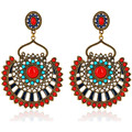 Watches Earrings Fashionvictime Earrings For Women By  - Base Metal Jewel Orange