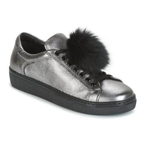 Shoes Women Low top trainers Tosca Blu CERVINIA POM PON Silver