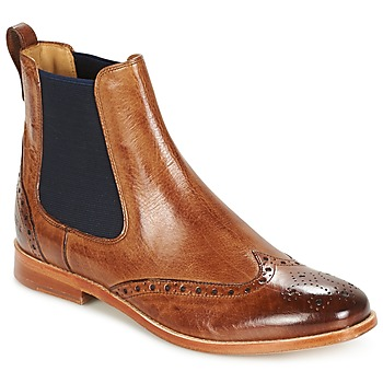 Shoes Women Mid boots Melvin & Hamilton AMELIE 5 Brown / NAVY
