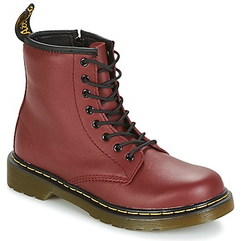 Shoes Children Mid boots Dr Martens DELANEY Red / Cherry